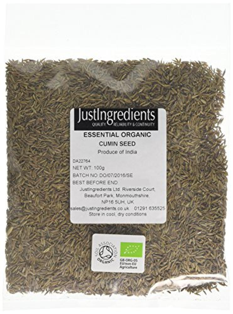 JustIngredients Essential Organic Cumin Seeds Loose 100 g