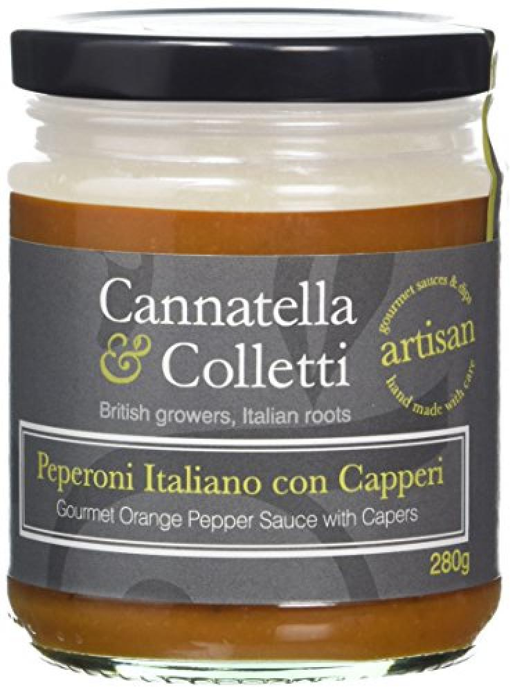 Cannatella and Colletti Gourmet Orange Pepper Sauce with Capers 280g