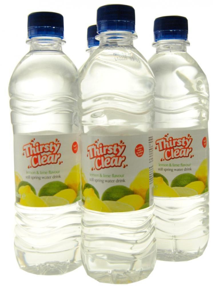 Thirsty Clear Lemon and Lime Flavour Still Spring Water Drink 4 x 500ml