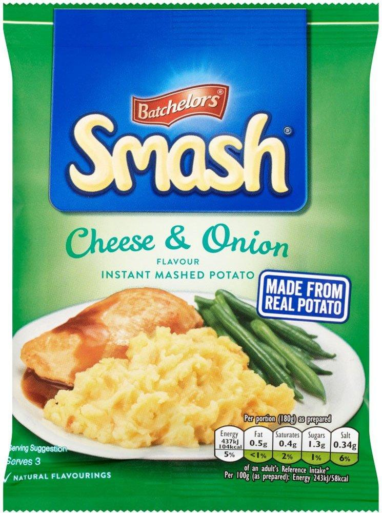 Smash Instant Mash Potato Cheese and Onion Flavour 107g 107g