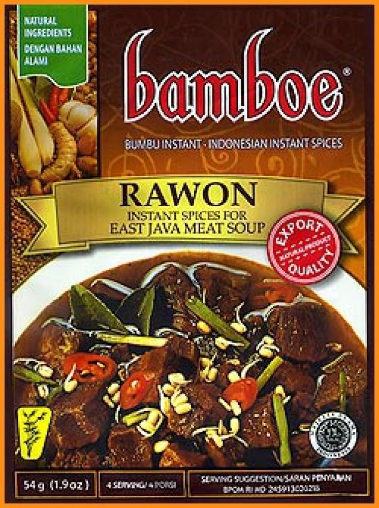 Bamboe Rawon Instant Spices For East Java Meat Soup 54g