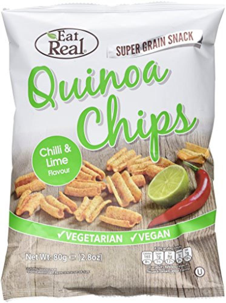 Eat Real Cofresh Quinoa Chips Chilli and Fresh Lime 80 g
