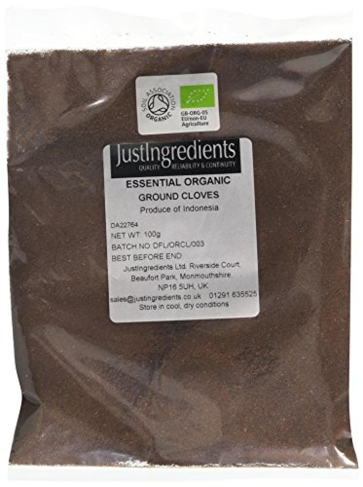 JustIngredients Essential Organic Cloves Ground Loose 100g
