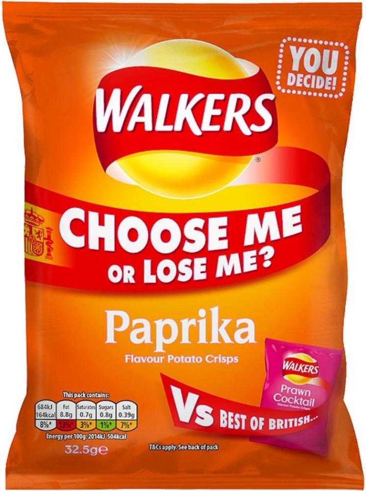 Walkers Paprika Flavour 32.5g