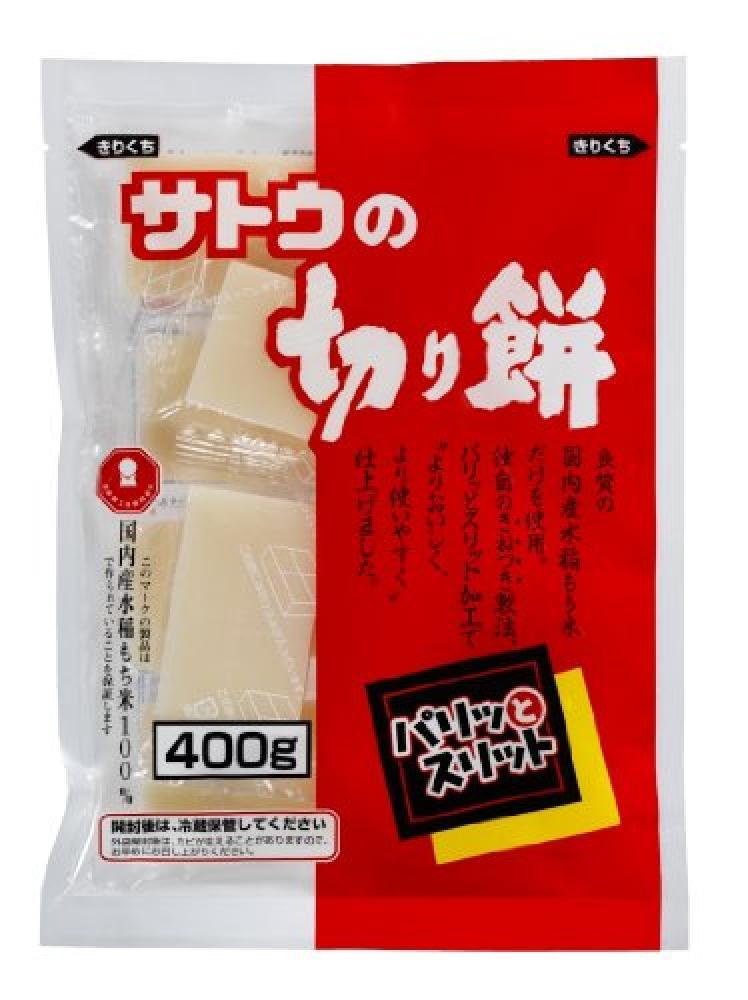 Sato Kirimochi Paritto Slit Rice Cake 400 g