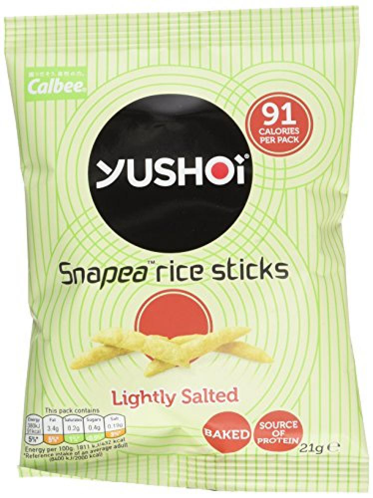 Yushoi Snapea Rice Sticks Savoury Snack Lightly Salted 21 g