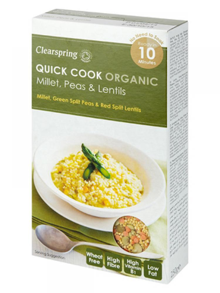 Clearspring Quick Cook Organic Millet Peas and Lentils 250g