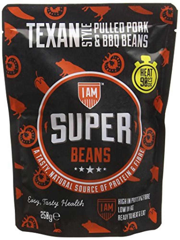 I Am Super Food Texas Style Pulled Pork and BBQ Beans 250g