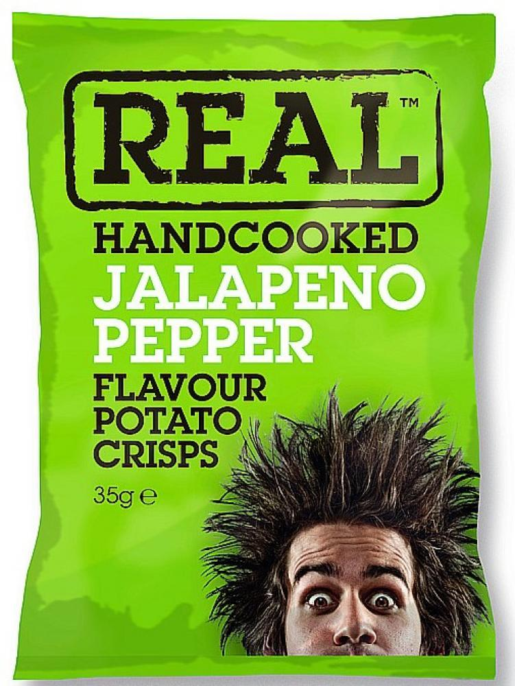 Real Handcooked Jalapeno Pepper Flavour Crisps 35g 35g