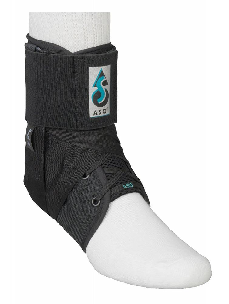 ASO ASO Ankle Stabilising Brace with plastic inserts, Black, Medium