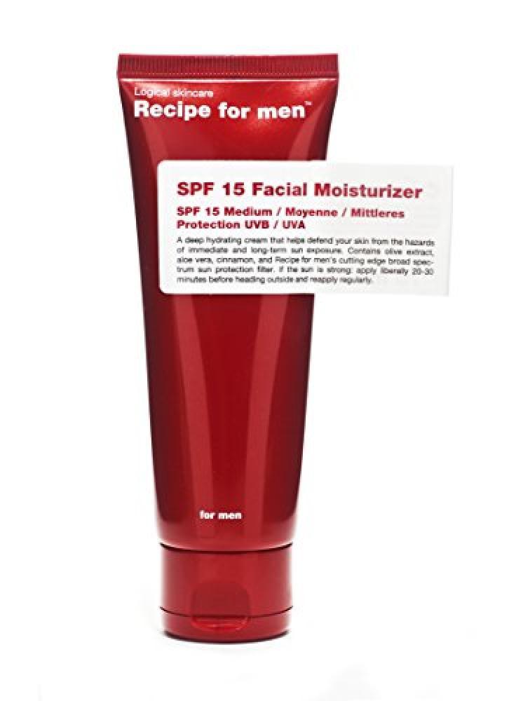 FURTHER REDUCTION  Recipe for Men Facial Moisturiser SPF15 75 ml