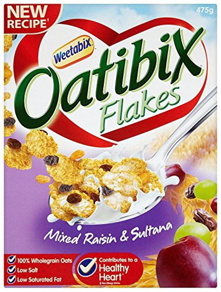 Weetabix Oatibix Flakes with Mixed Raisin and Sultana 475g