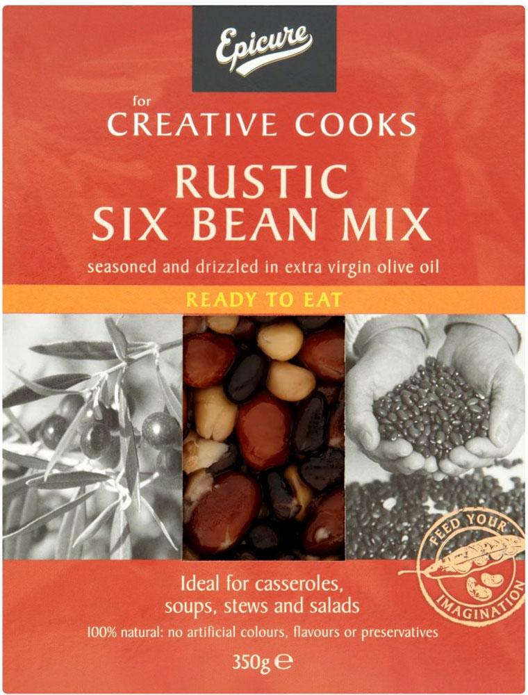Epicure Rustic Six Bean Mix 350g