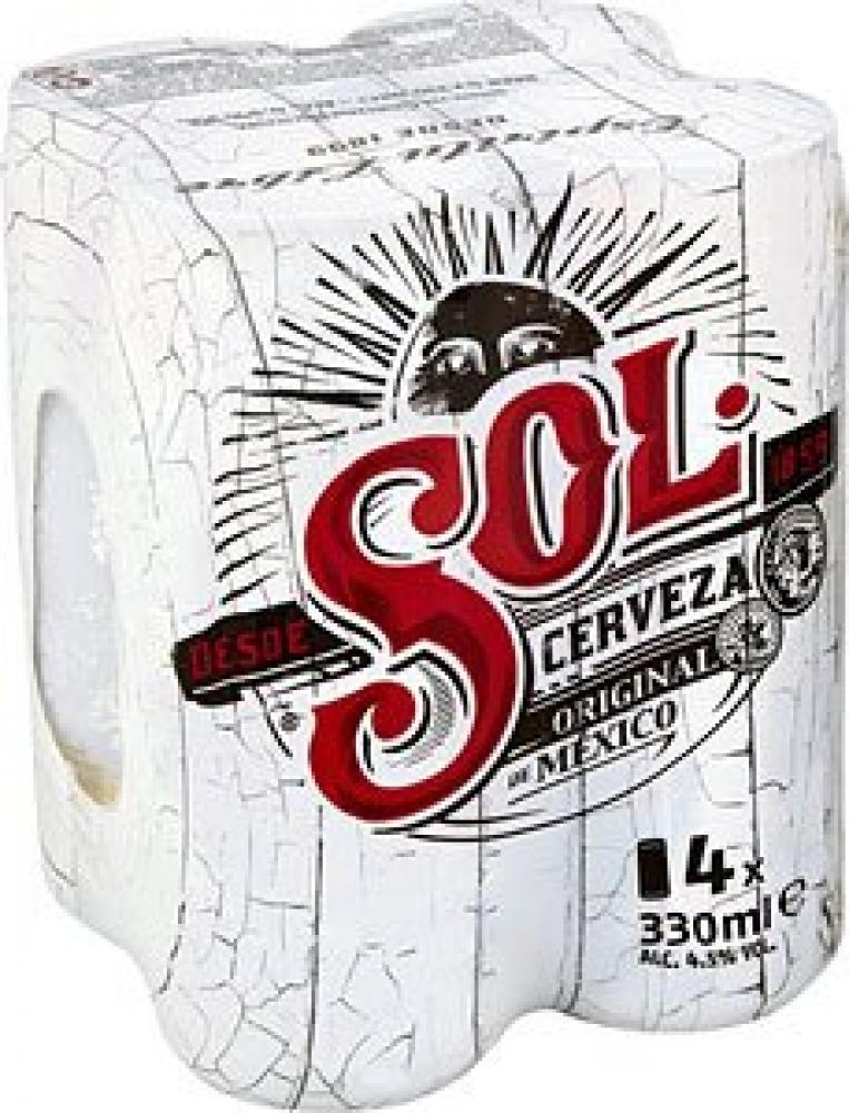 Heineken Sol Beer 4x330ml