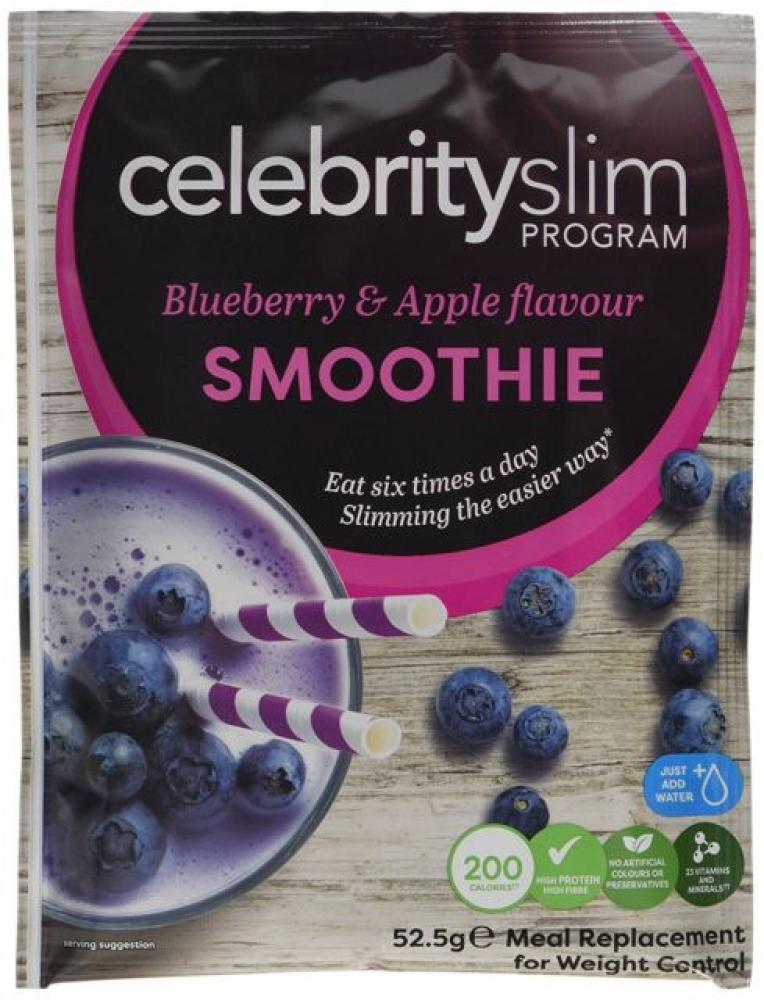 Celebrity Slim Blueberry and Apple Smoothie - Pack of 4 210 g