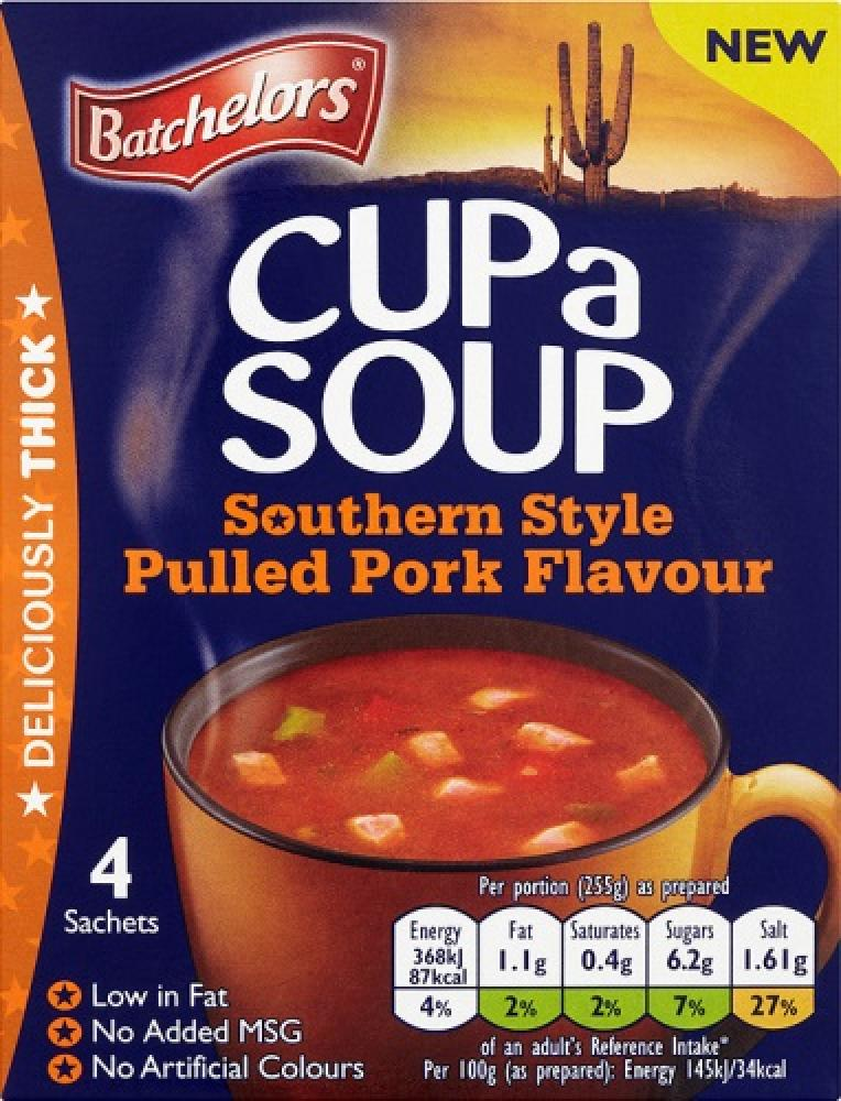 Batchelors Cup a Soup Southern Style Pulled Pork Flavour 98g - 4 Sachets