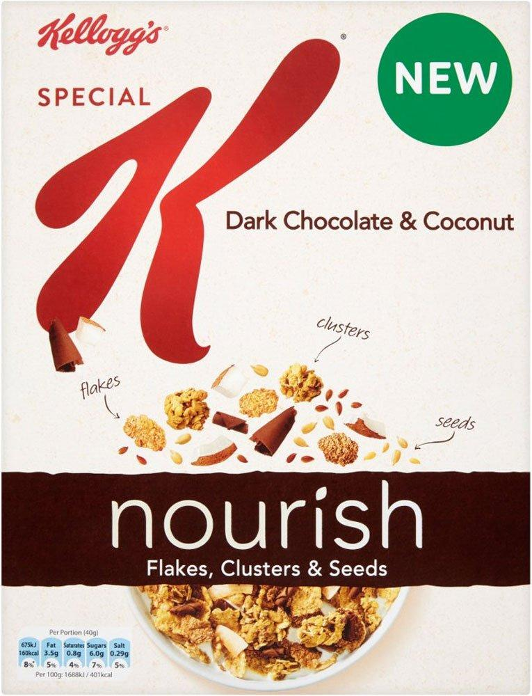 Kelloggs Special K Nourish Dark Chocolate and Coconut 330g
