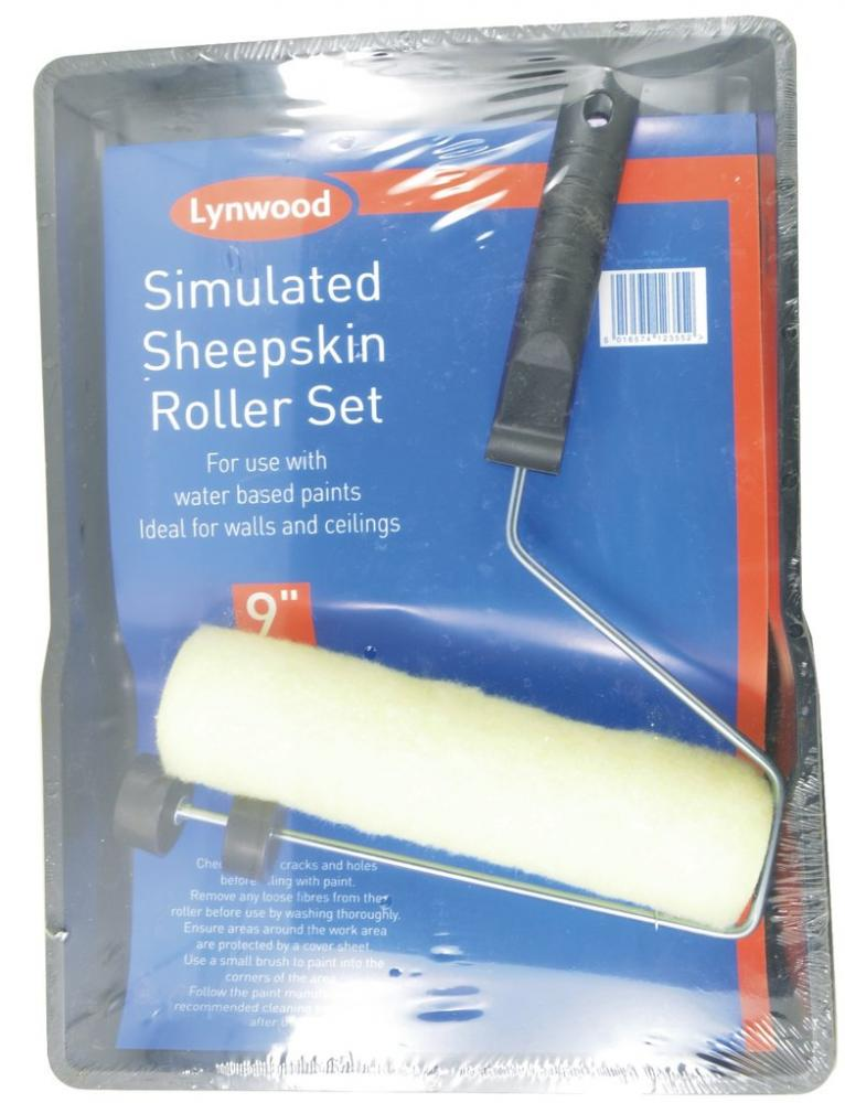 Lynwood 7 Inch Simulated Sheepskin Roller Set