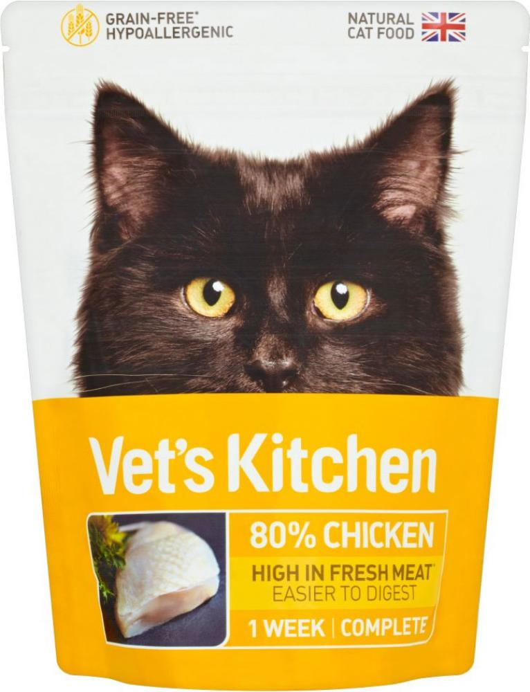 FURTHER REDUCTION  Vets Kitchen Chicken Cat Food 385g