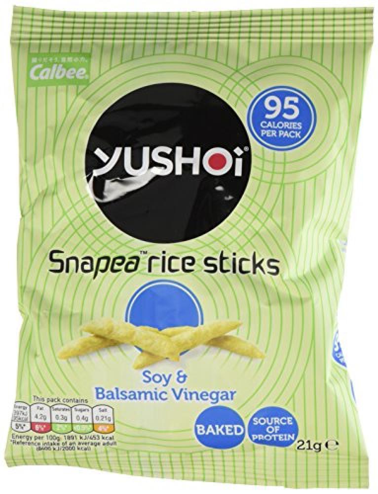 Yushoi Snapea Rice Sticks Soy And Balsamic Vinegar 21 g