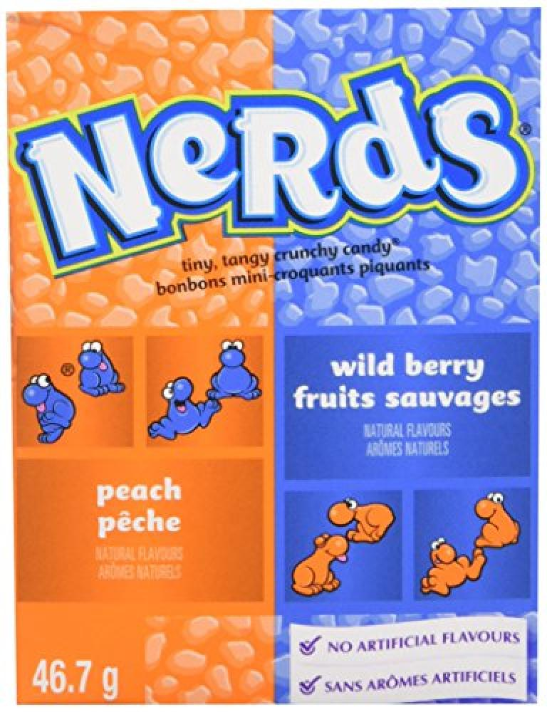 Wonka Peach and Wild Berry Nerds 1.65 oz