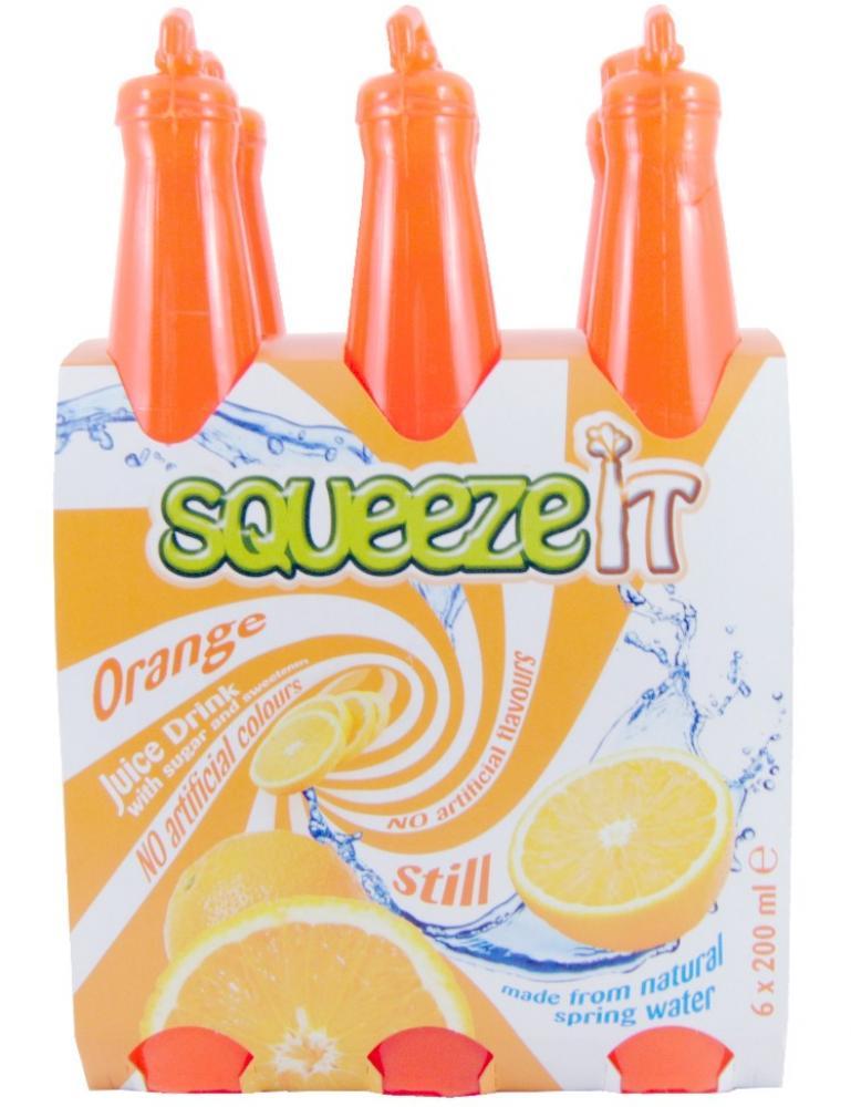 Squeeze It Orange Juice Drink 200ml x 6