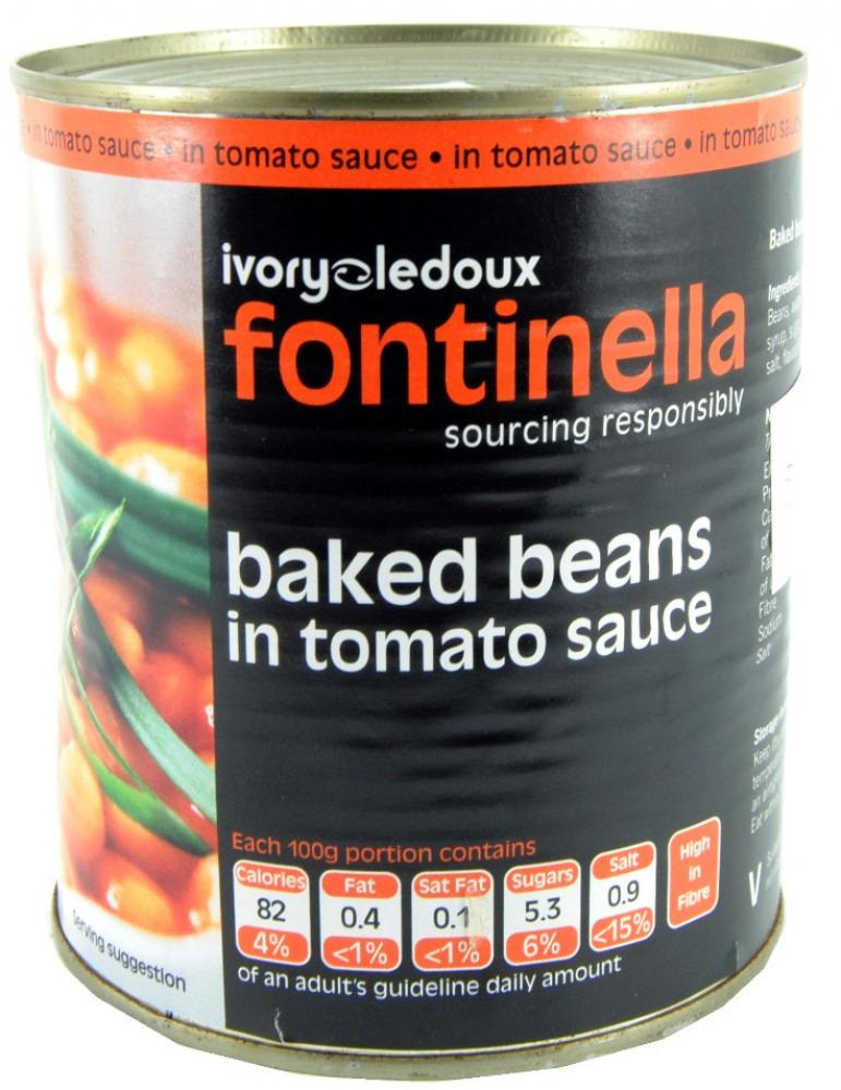 Fontinella Baked Beans In Tomato Sauce 800g | Approved Food
