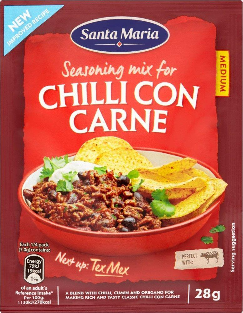 TODAY ONLY  Santa Maria Chilli Con Carne Seasoning Mix 28g