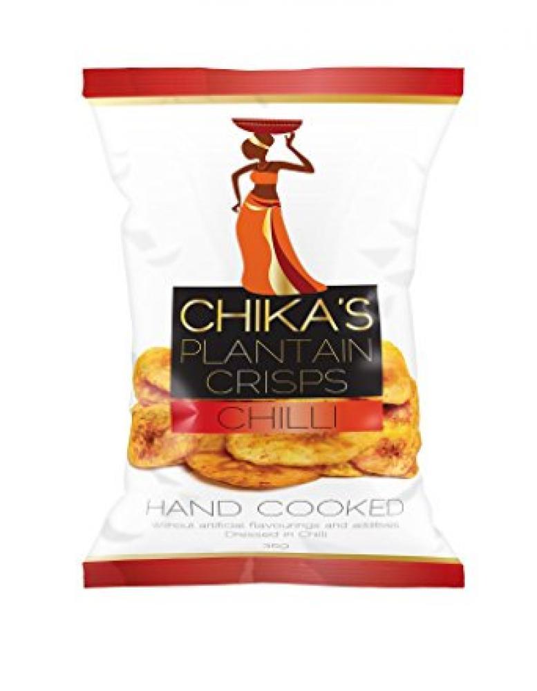 Chikas Hand Cooked Plantain Chilli Crisps 35g