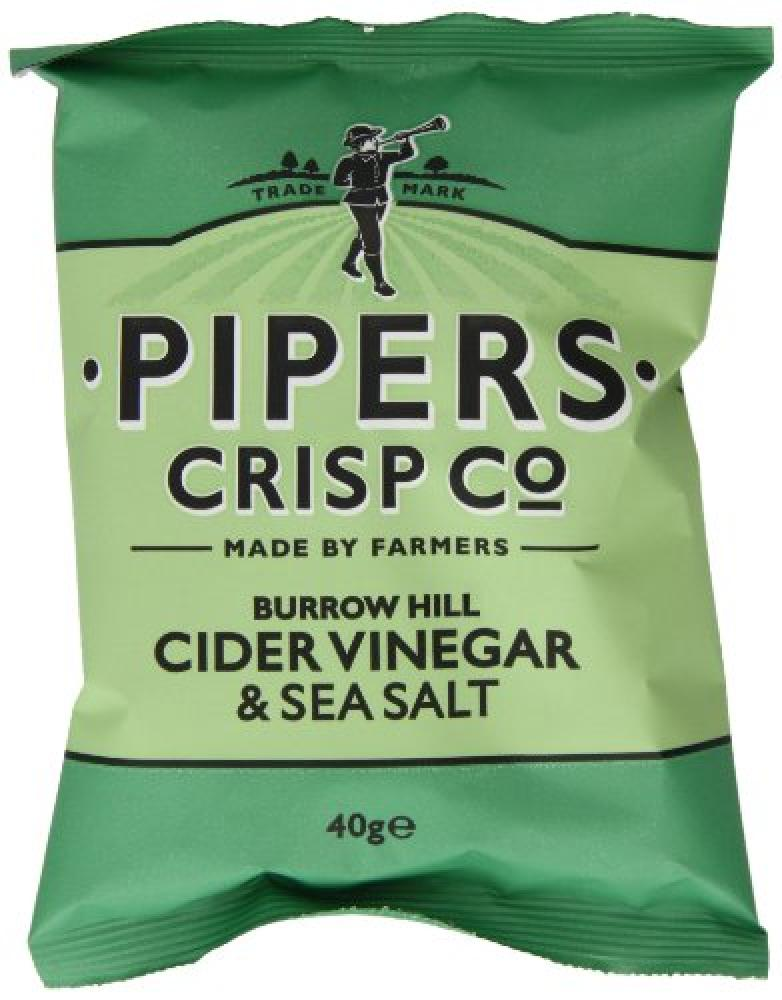 Pipers Crisp Co Burrow Hill Cider Vinegar and Sea Salt 40 g