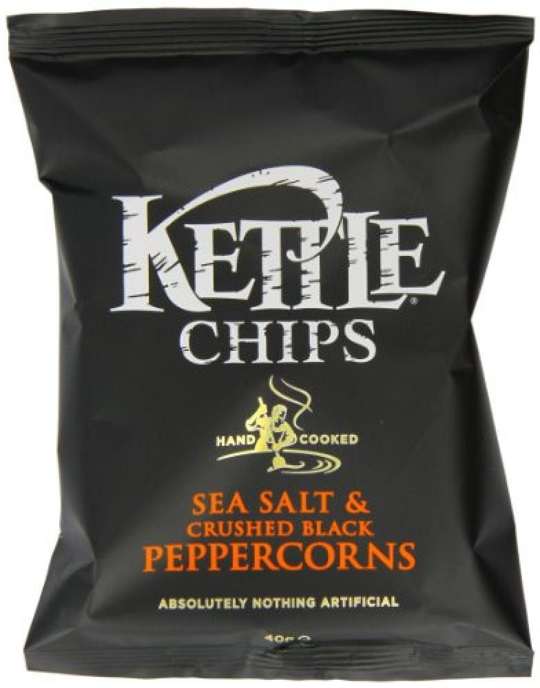 Kettle Chips Sea Salt and Crushed Peppercorns 40 g
