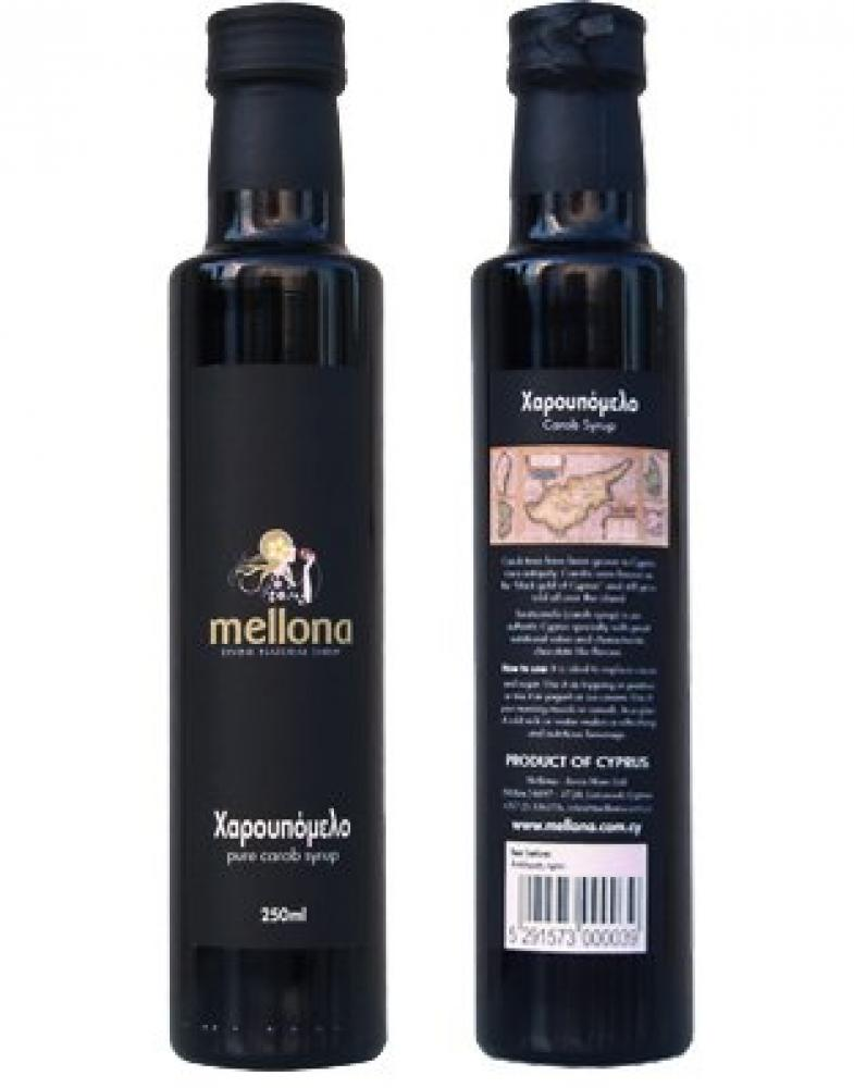 Mellona 100 Percent Pure and Natural Premium Quality Carob Syrup from Cyprus 250ml