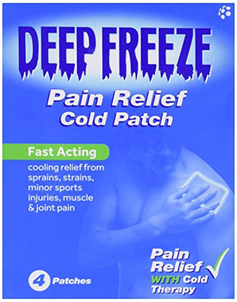 Deep Well Patch Deep Freeze Cold Patches Cooling Therapy for Sprains Strains and Muscle Pain - 4