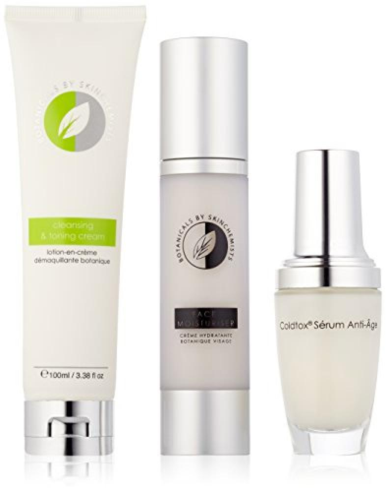 skinChemists Botanicals Cleansing and Toning Cream Botanicals Face Moisturiser and Coldtox Facial Serum