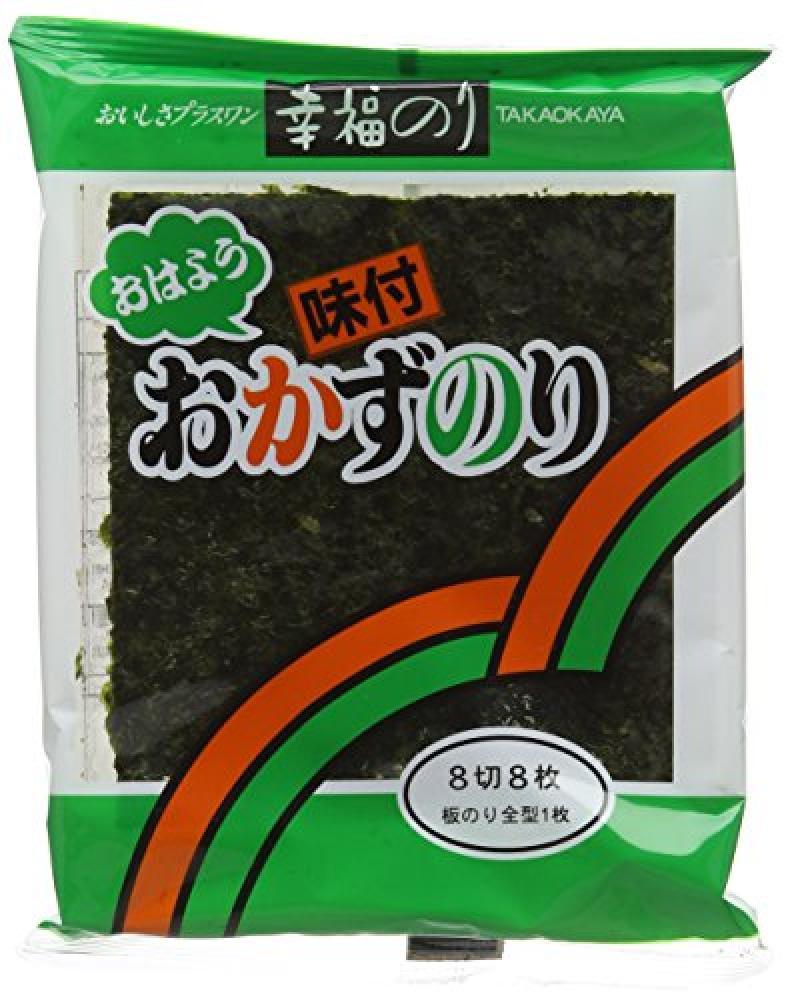 Takaokaya Ajitsukenori Ohayo 8 Pack Takaokaya Seasoned Seaweed