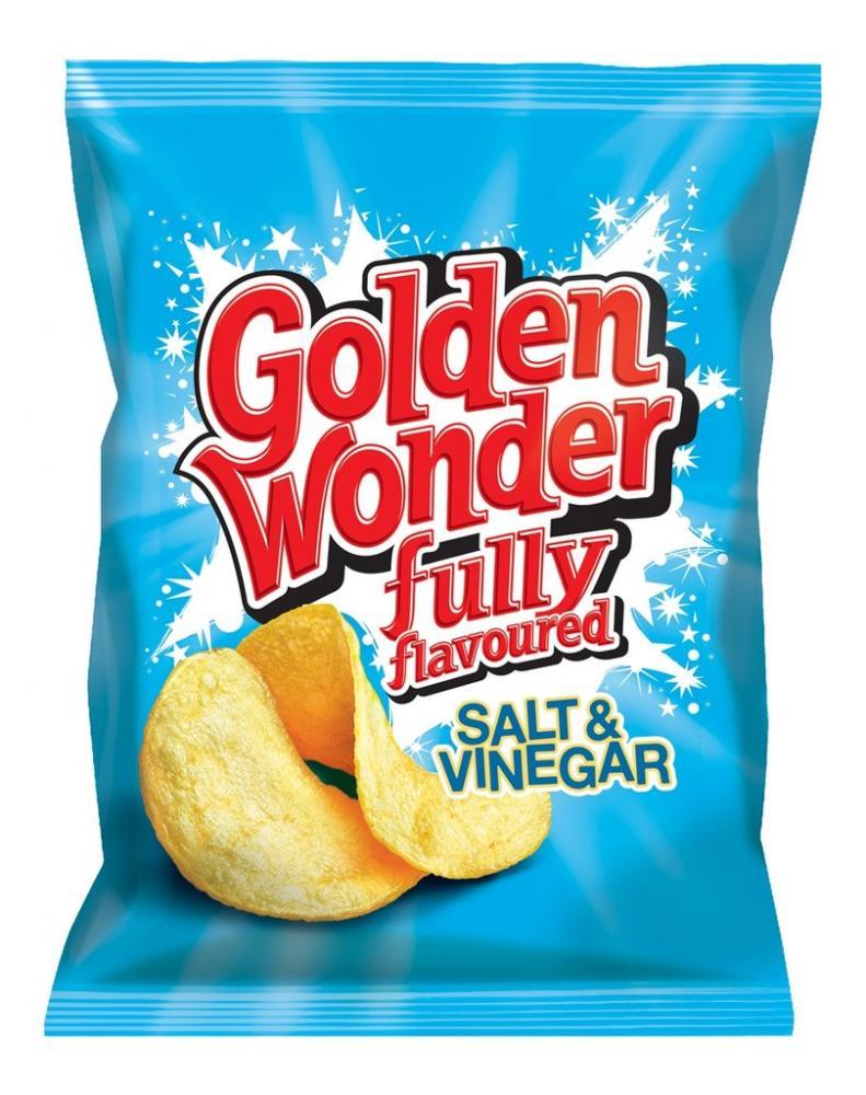 Golden Wonder Salt and Vinegar Flavour Crisps 32.5g