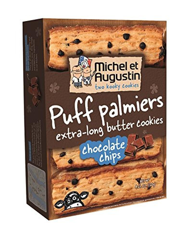 Michel Et Augustin Puff Palmiers Extra Long Chocolate Chips Butter Cookies