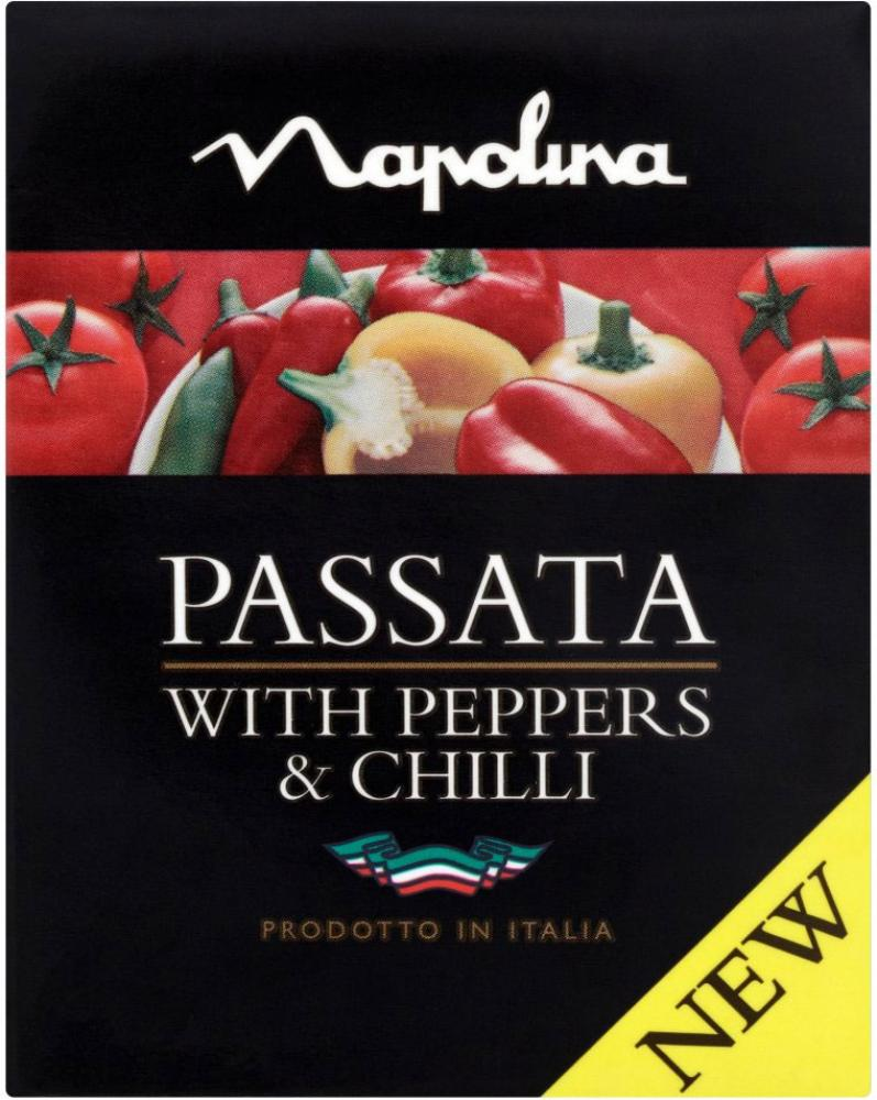 Napolina Passata With Peppers and Chilli 390g
