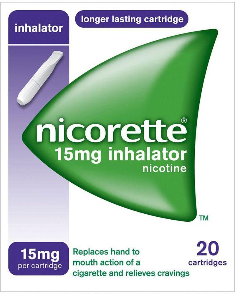 Nicorette Inhalator 15 mg 20 Cartridges