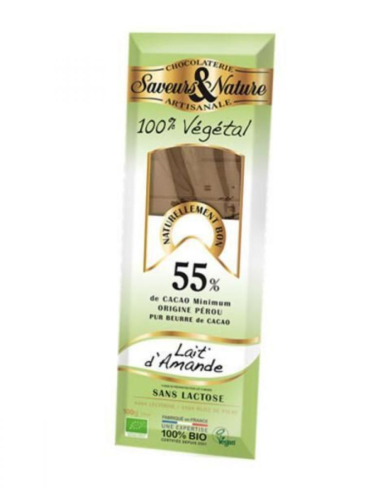 Saveurs et Nature Cocoa Chocolate With Almond Oil 100g