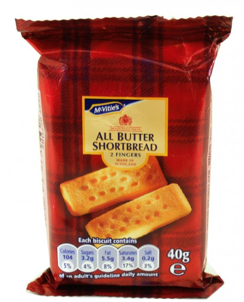 McVities All Butter Shortbread 2 Fingers 40g