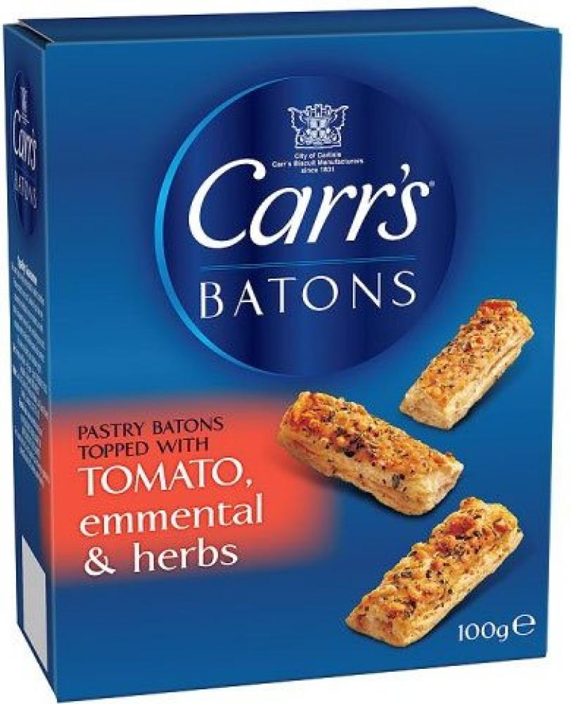 Carrs Batons Tomato Emmental and Herbs 100g