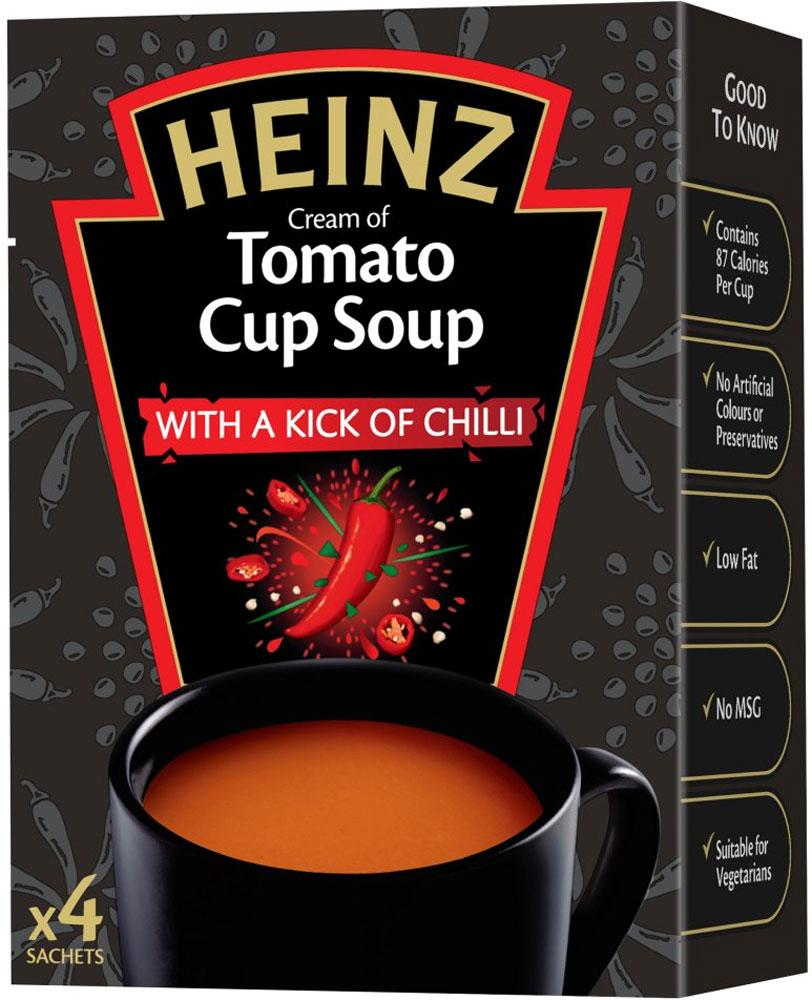 Heinz Tomato Cup Soup with a kick of chilli 22.5g Pack of 4