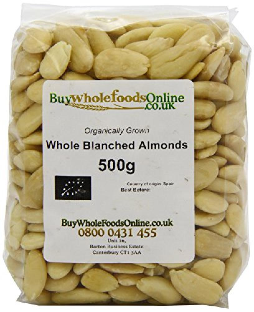 Buy Whole Foods Organic Whole Blanched Almonds 500 g