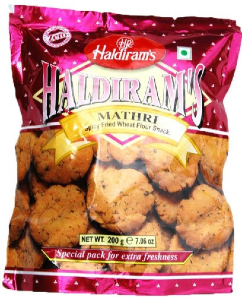 Haldirams Mathri Spicy Fried Wheat Flour Snack 200g
