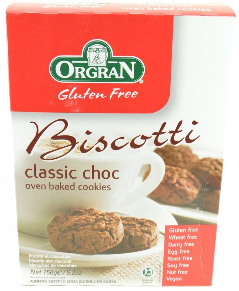 Orgran Classic Choc Biscotti Oven Baked Cookies 150g
