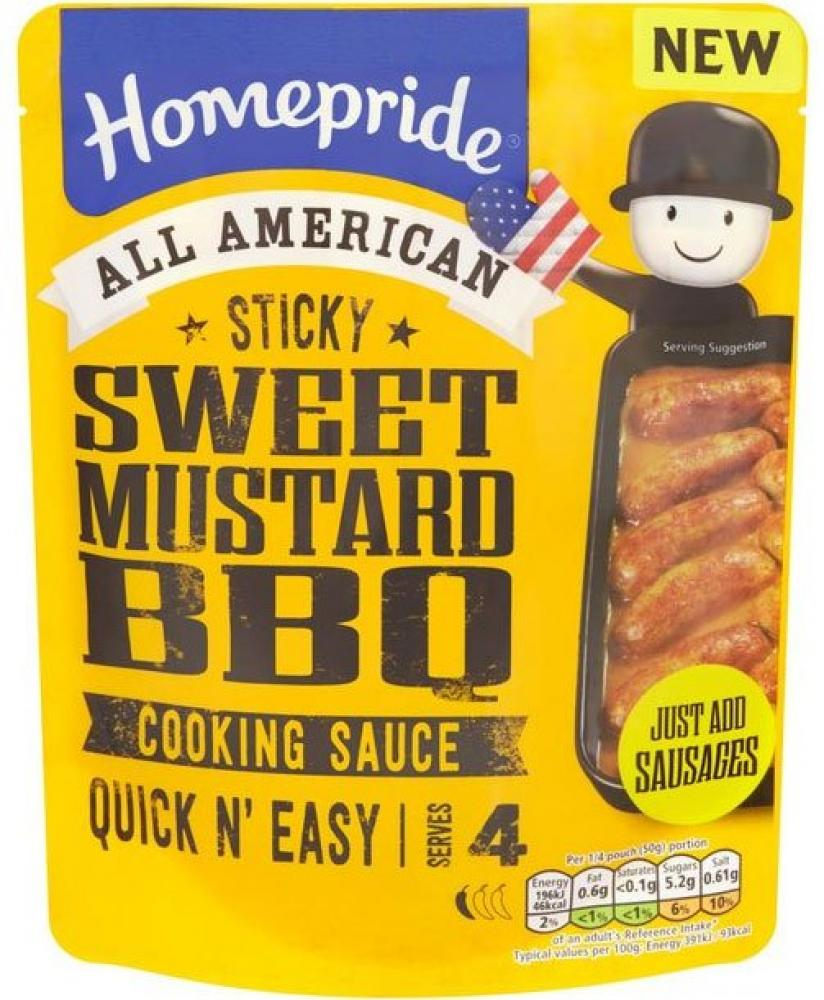 Homepride All American Sweet Mustard BBQ Cooking Sauce 200g