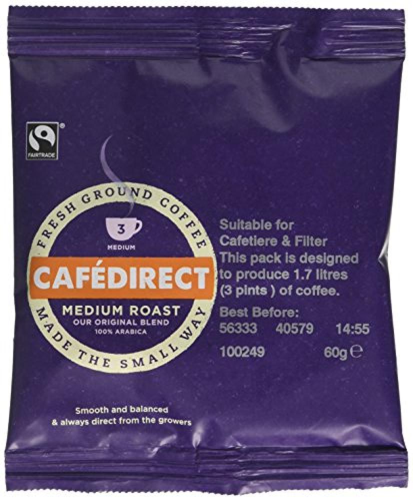 Cafedirect Fairtrade Medium Roast and Ground Coffee 60g