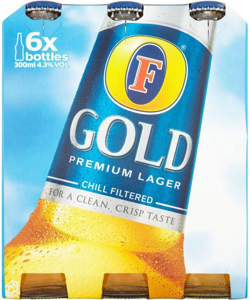 CASE PRICE  Fosters Gold 300ml x 6