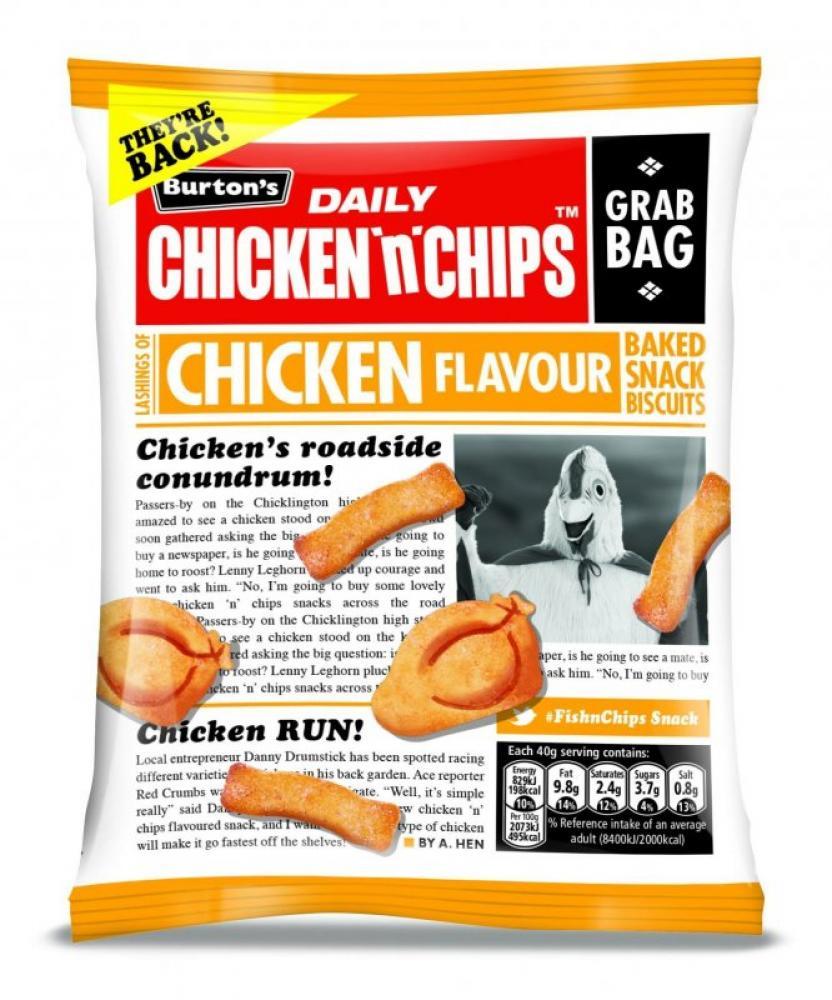 Burtons Daily Chicken n Chips Chicken Flavour 40g